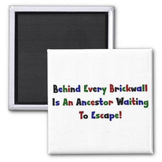 Detrás de cada Brickwall es… Imán Cuadrado