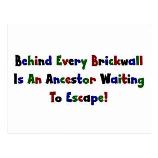 Detrás de cada Brickwall es… Tarjeta Postal