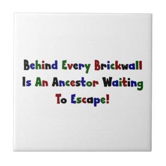 Detrás de cada Brickwall es un antepasado… Azulejo Cuadrado Pequeño