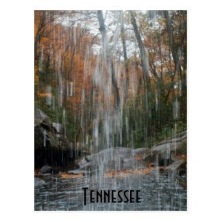 Detrás de la cascada Tennessee Tarjeta Postal