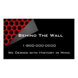Detrás de la pared tarjetas de visita