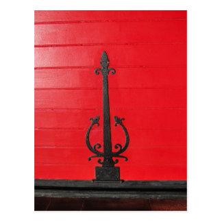 ¿Detrás de la puerta roja? Tarjetas Postales
