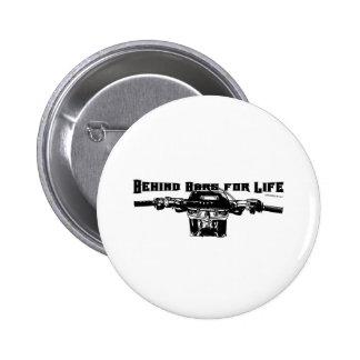 Detrás de las barras para la vida - motocrós pin redondo 5 cm