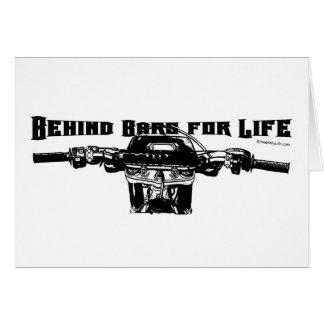 Detrás de las barras para la vida - motocrós tarjetas