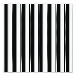 """Detrás de las barras - raya negra (añada la foto o invitación 5.25"""" x 5.25"""""""