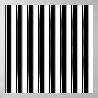 Detrás de las barras - raya negra (añada la foto o póster
