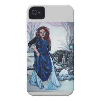 detrás de su caja intrépida de la zarzamora gótica iPhone 4 Case-Mate cárcasas