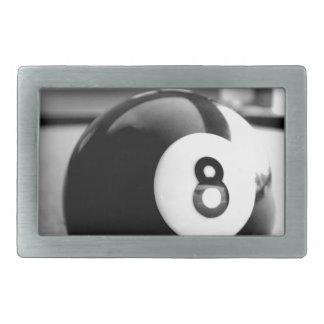 Detrás del 8-Ball, bola ocho Hebilla De Cinturón Rectangular