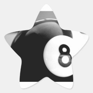 Detrás del 8-Ball bola ocho Calcomanía Cuadrada