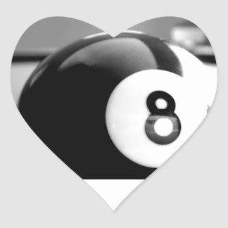 Detrás del 8-Ball, bola ocho Pegatina En Forma De Corazón