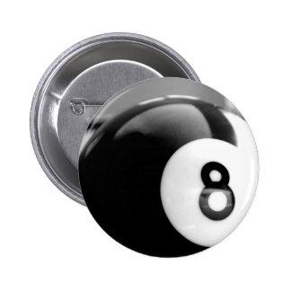 Detrás del 8-Ball, bola ocho Pin Redondo De 2 Pulgadas