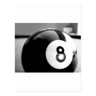 Detrás del 8-Ball, bola ocho Postal