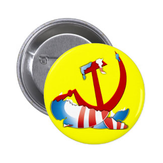 Detrás del logotipo de Obama Pin Redondo 5 Cm