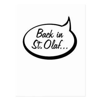 Detrás en St. Olaf… Postales