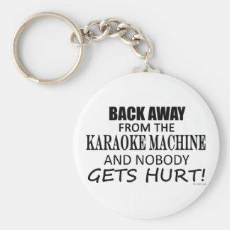 Detrás lejos de la máquina del Karaoke Llaveros Personalizados