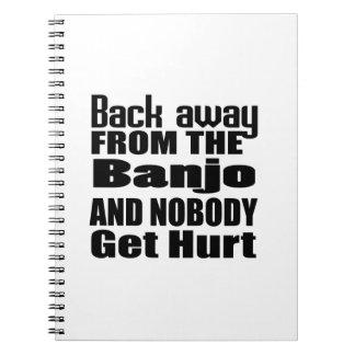 Detrás lejos del banjo y de nadie consiga el daño libros de apuntes con espiral