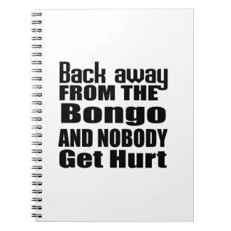 Detrás lejos del bongo y de nadie consiga el daño libros de apuntes con espiral
