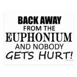 Detrás lejos del Euphonium Postal