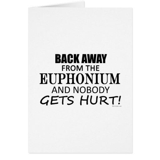 Detrás lejos del Euphonium Tarjeton