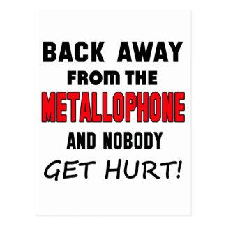 Detrás lejos del Metallophone y de nadie consiga Postal