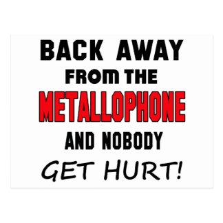Detrás lejos del Metallophone y de nadie consiga Postales