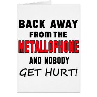 Detrás lejos del Metallophone y de nadie consiga Tarjeta De Felicitación