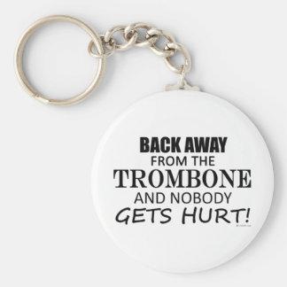 Detrás lejos del Trombone Llaveros