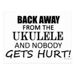 Detrás lejos del Ukulele Tarjetas Postales