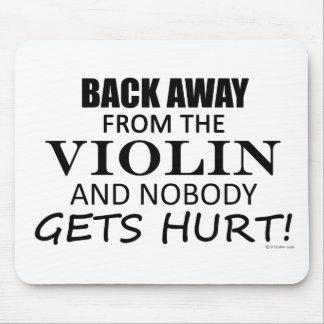 Detrás lejos del violín alfombrillas de ratón