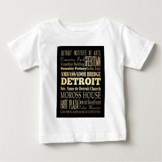 Detriot City of Michigan State Typography Art Baby T-Shirt