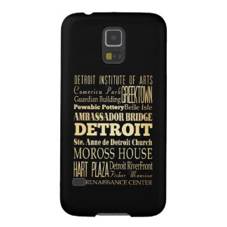 Detriot City of Michigan State Typography Art Case For Galaxy S5