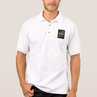 Detriot City of Michigan State Typography Art Polo Shirt