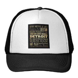 Detriot City of Michigan State Typography Art Trucker Hat
