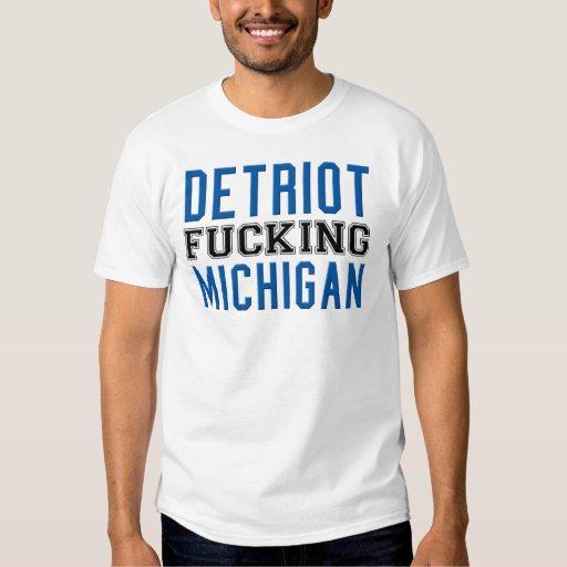 Detriot que coge Michigan Playeras