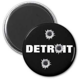 Detroit 2 Inch Round Magnet