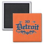 Detroit 313 2 inch square magnet