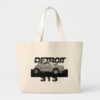 Detroit 313 Area Code Skecth Hot Rod Chevy wow Bag