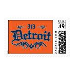 Detroit 313 postage stamps