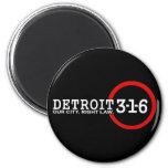 Detroit 3-1-6: Nuestra ciudad. Ley correcta Iman Para Frigorífico