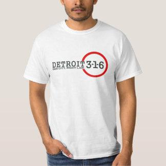 Detroit 3-1-6: Our City. Right Law. T-shirt