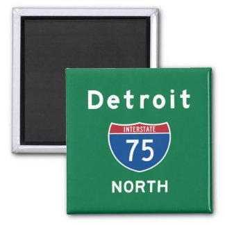 Detroit 75 2 inch square magnet