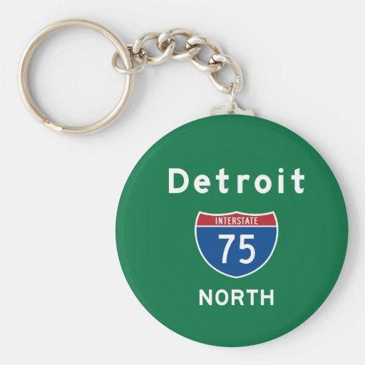 Detroit 75 keychain