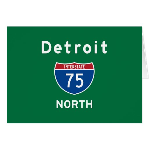 Detroit 75 stationery note card