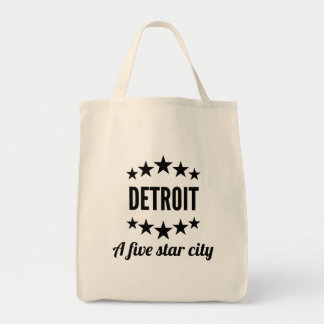 Detroit A Five Star City Grocery Tote Bag