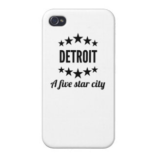Detroit A Five Star City iPhone 4 Cover