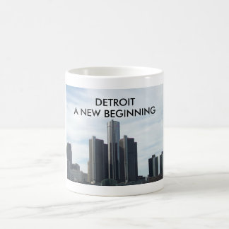 Detroit A New Beginning 11oz White Mug