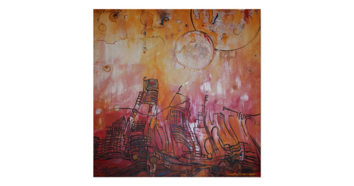 Detroit Abstract Vi Canvas Print Zazzle Com