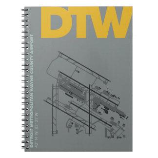 Detroit Airport (DTW) Airport Diagram Notebook