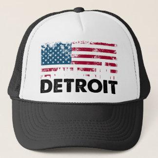 Detroit American Flag (2) Trucker Hat