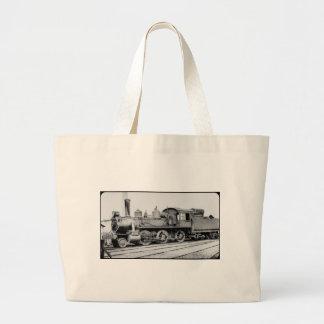 Detroit and Mackinac Railway Engine 113 Large Tote Bag